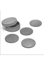 Grey Shagreen Coaster Set in Holder