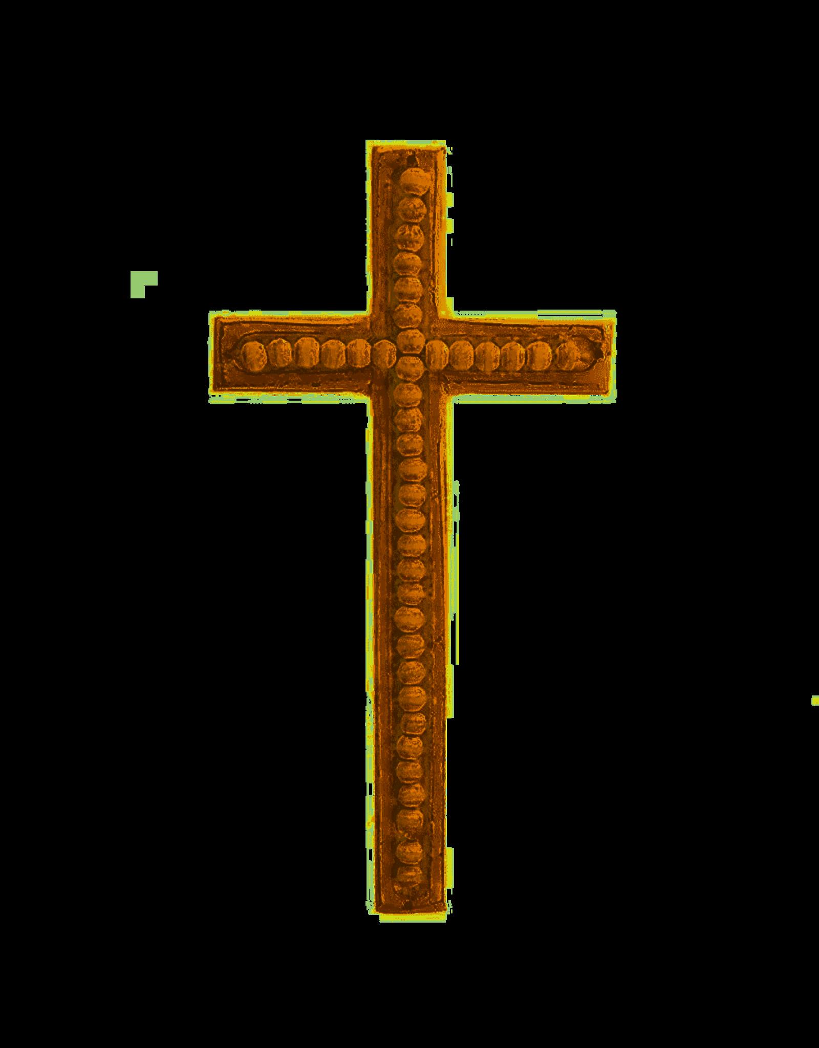 Large Beaded Wood Cross
