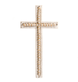 Beaded Wood Cross-Large