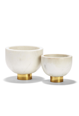 Oak + Arrow Interiors Small Ice White Marble Bowl