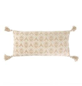 15x32 Stella Bolster Pillow, Ecru