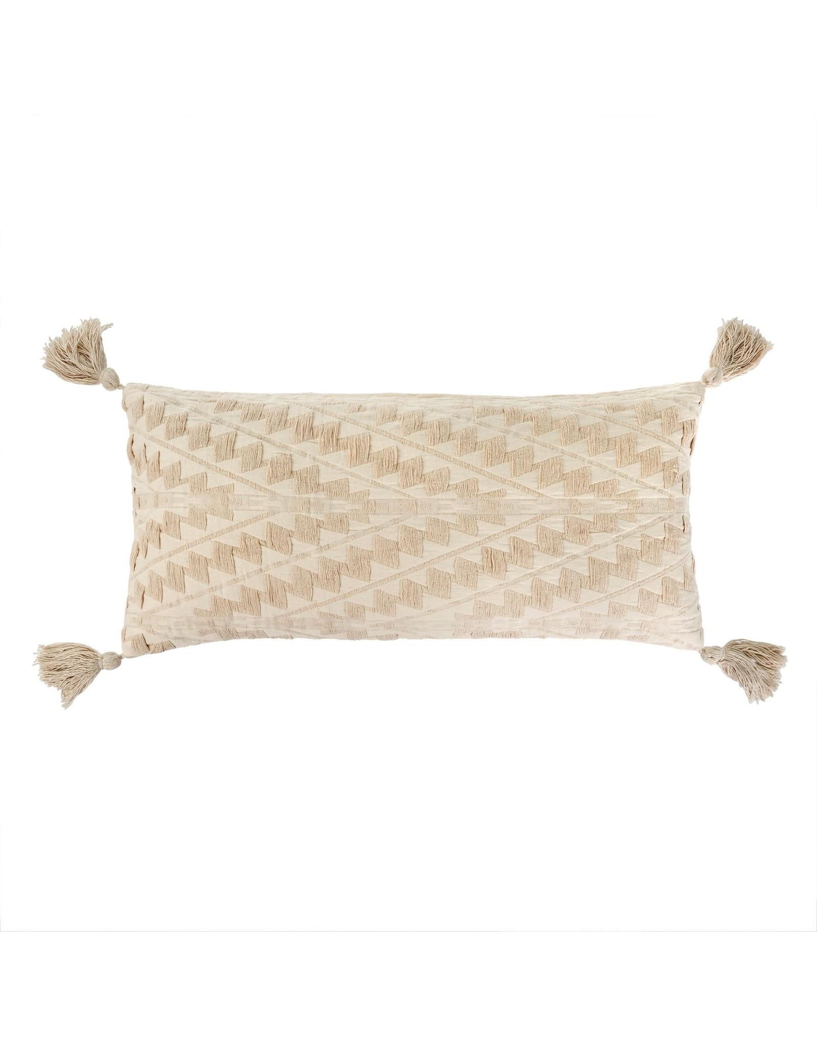 15x32 Athens Bolster Pillow, Ecru
