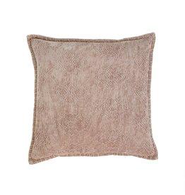 20x20 Jacquard Velvet Cushion, Taup