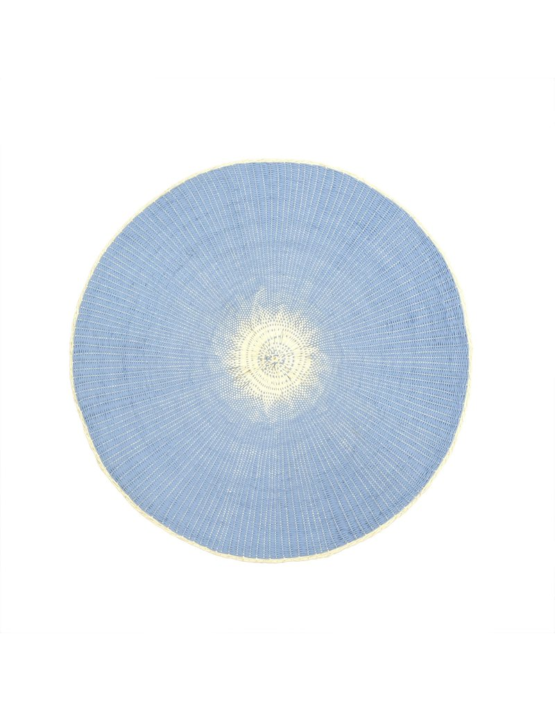Willa Woven Placemat, Light Blue