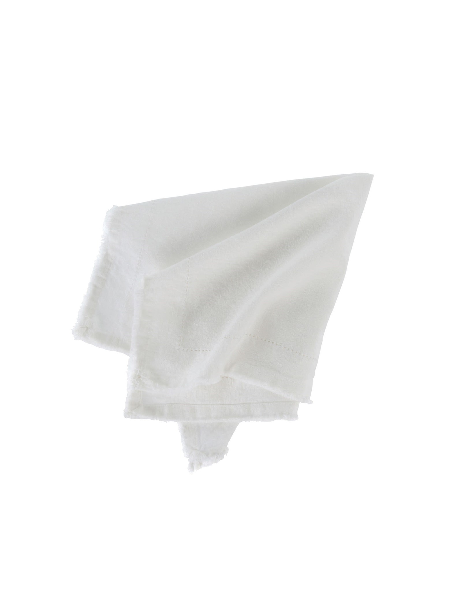 (SET OF 6) Frayed Edge Napkin Ivory