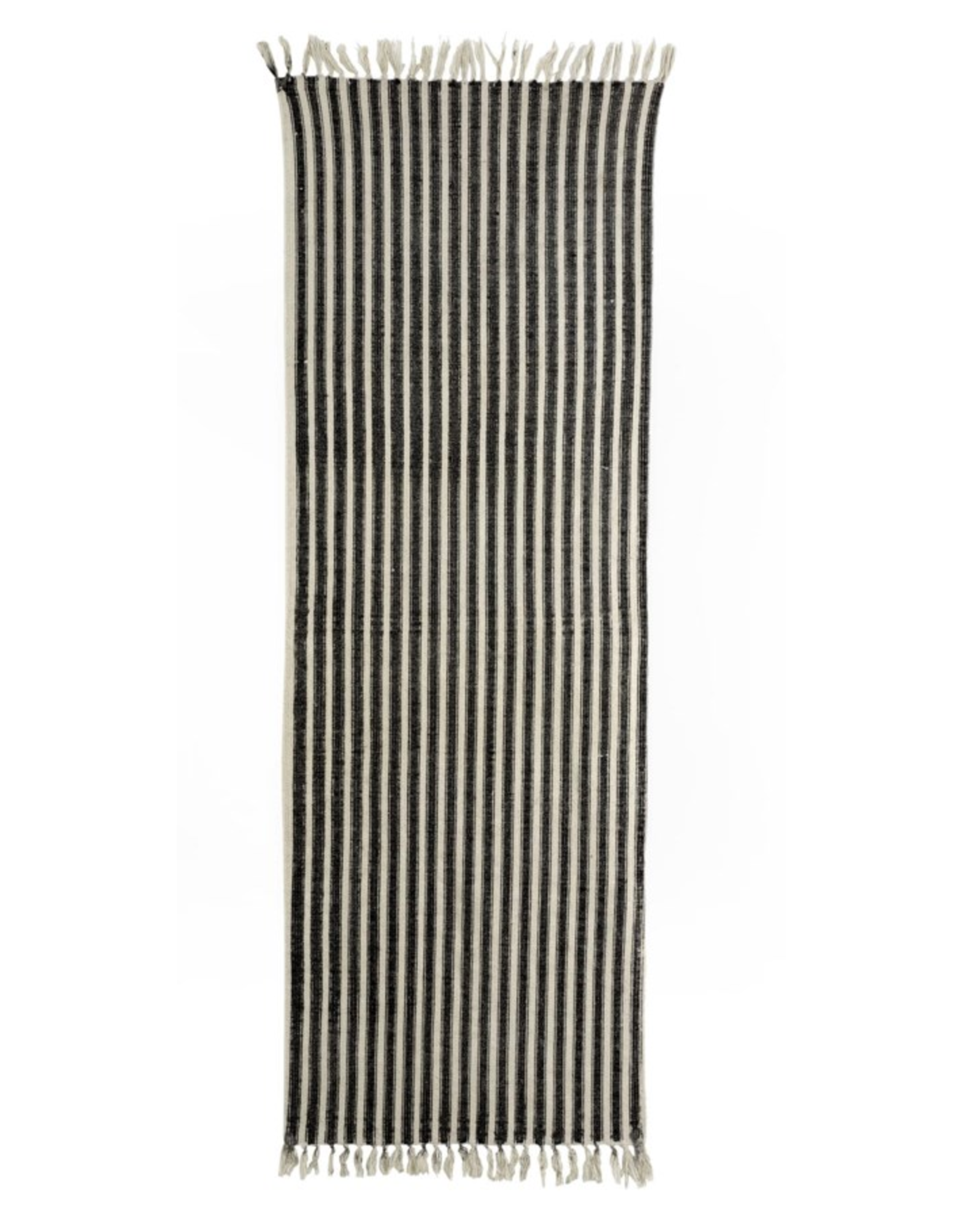 2x6 French Ticking Rug