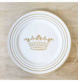 Royal Crown Charger White/Gold 13""