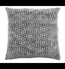 24x24 Blue Trellace Stonewashed Woven Cushion