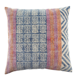24x24 Stonewashed Blue Diamond Pillow