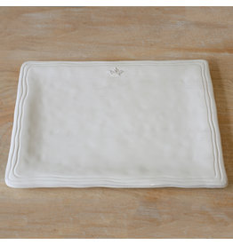 Crown Platter Antique White 15.5x11.5
