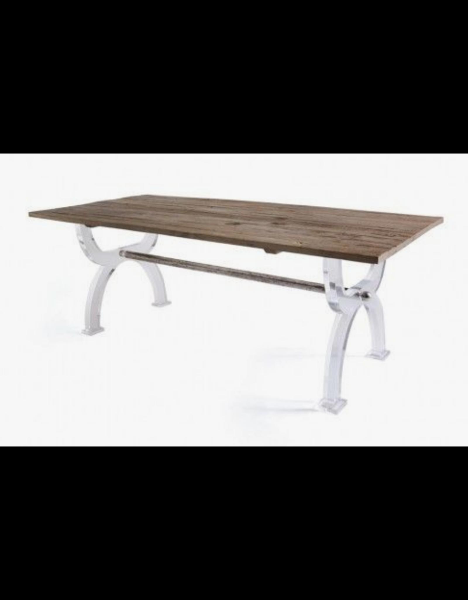 Acrylic Base Dining Table