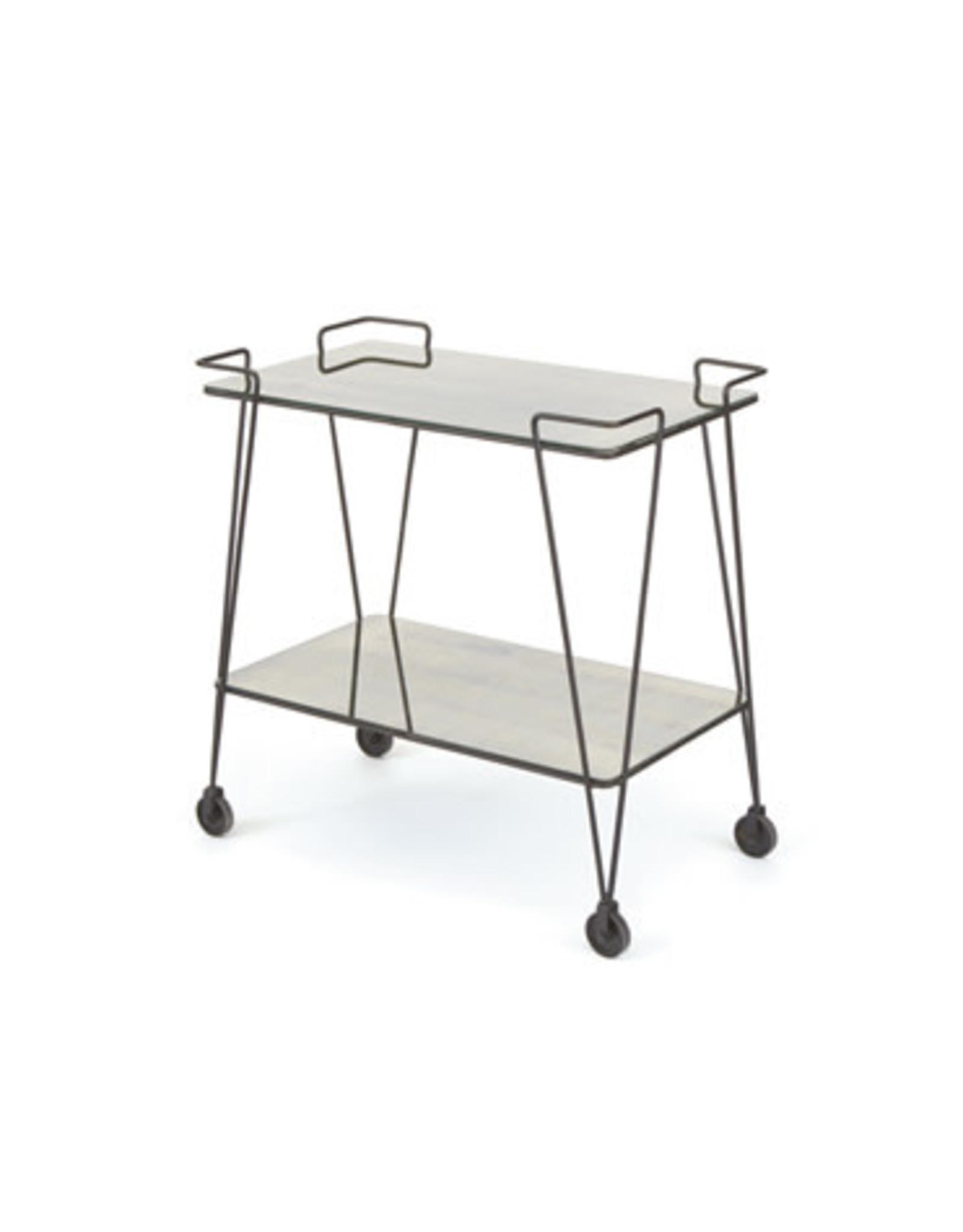 Iron and Mirror Bar Cart