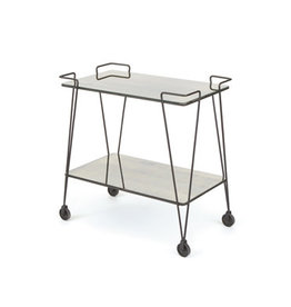 Iron and Mirror Bar Cart