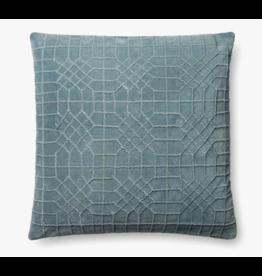 22x22 Light Blue Trellace Pattern Pillow