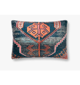 16x26 Blue/Multi Kilim Print Pillow