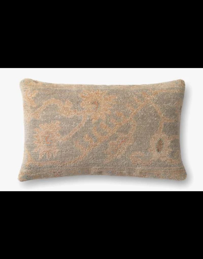 13x21 Beige/Light Blue Pillow