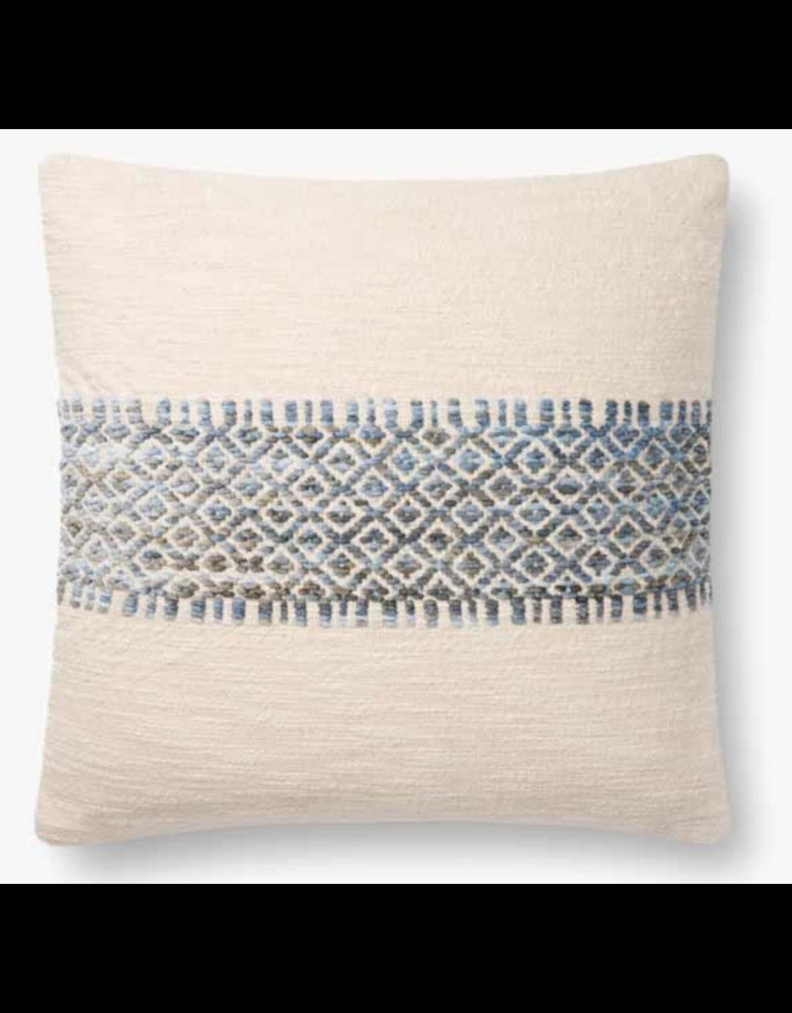 """18"""" X 18"""" Blue Stripe Pillow"""