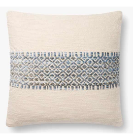 "18"" X 18"" Blue Stripe Pillow"