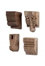 Set of 4 Antique Wood Molding Pieces