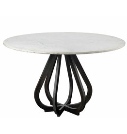 "48"" Round Marble Top Table"