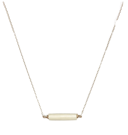 White Delicate Bar Necklace