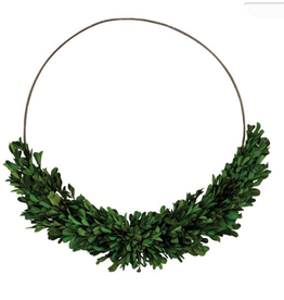 PRESERVED BOXWOOD RING WREATH