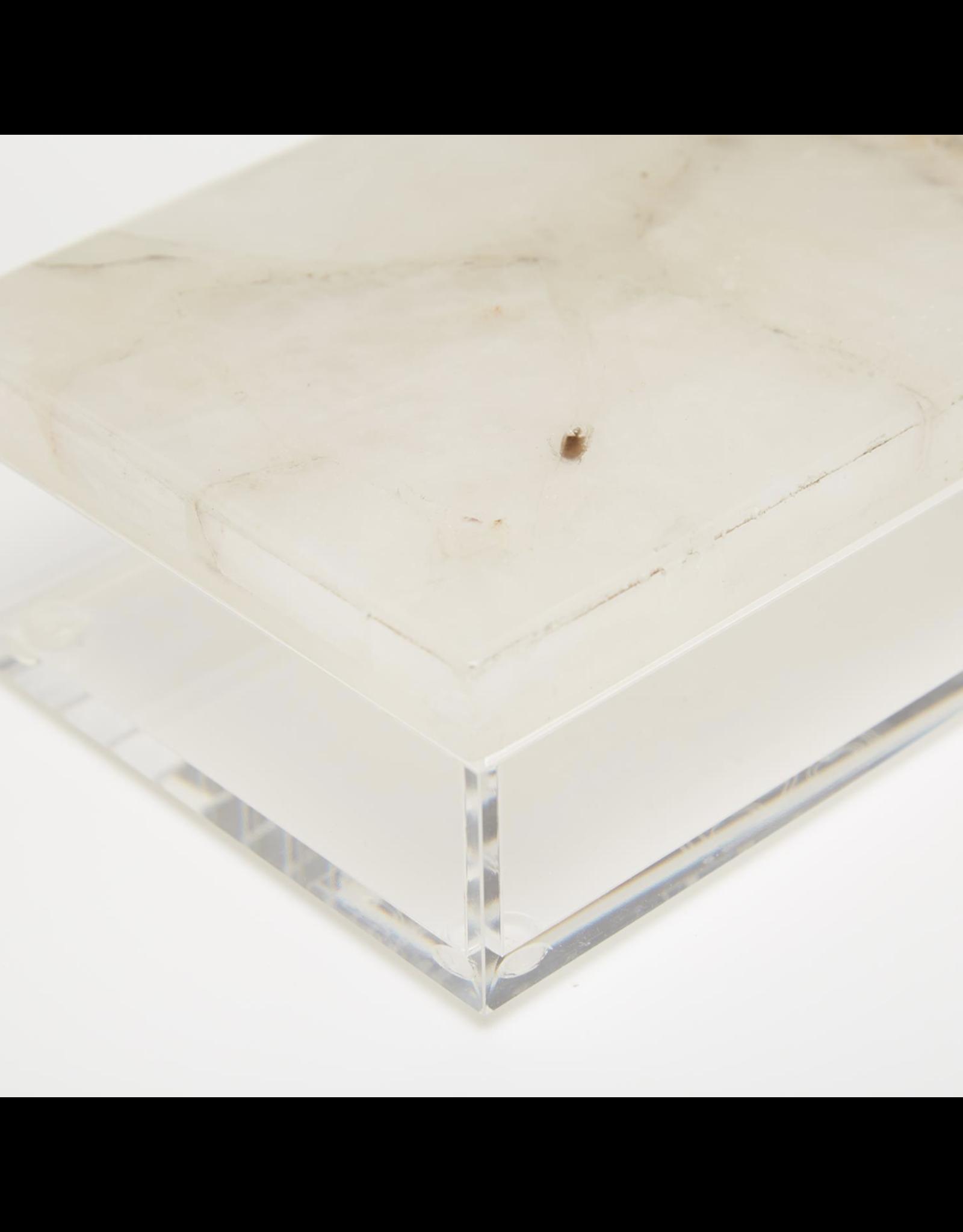 Large White Quartz Box