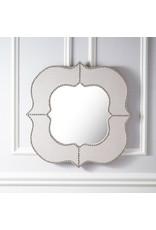 Linen Nailhead Mirror
