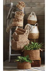 Small White Two Toned Basket