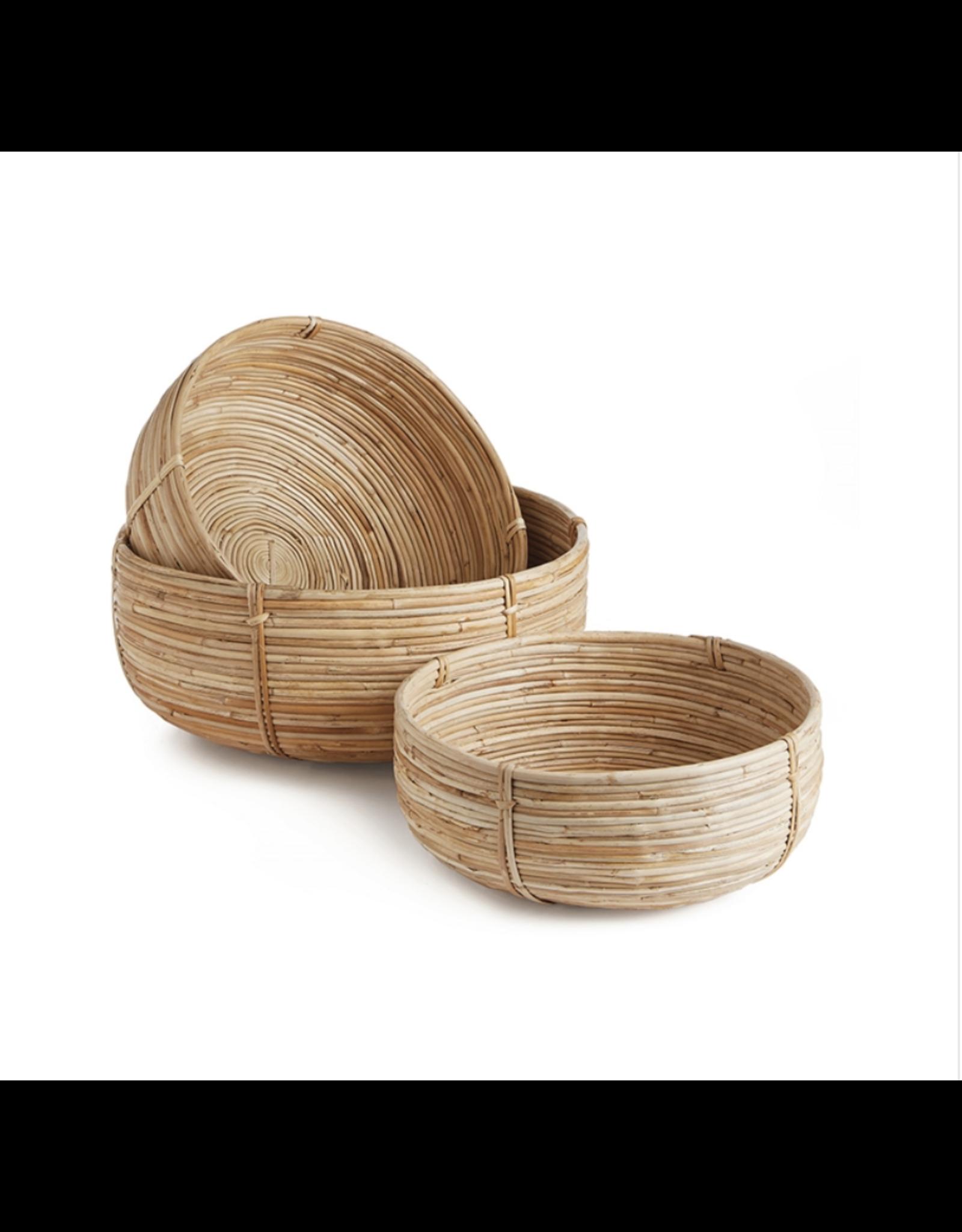 Oak + Arrow Interiors Cane Low Basket Small