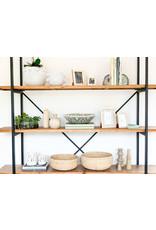 Oak + Arrow Interiors Cane Low Basket Large