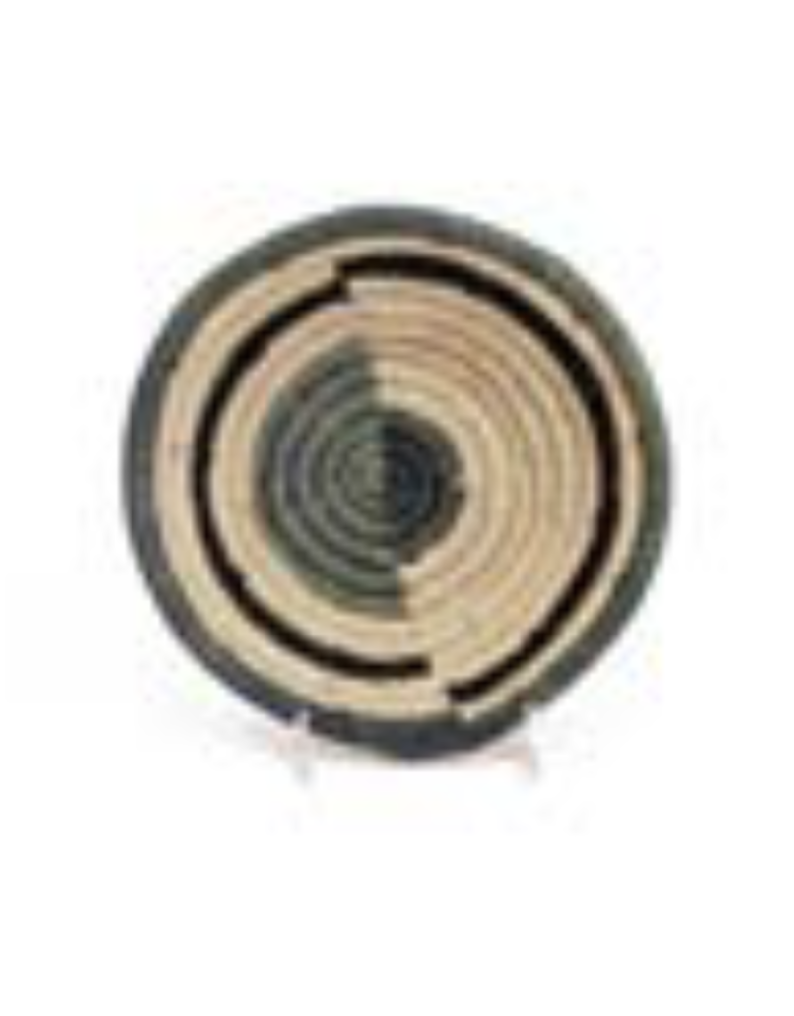 Opal Gray Geo Small Raffia Bowl