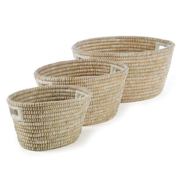 Large Rivergrass Oval Basket