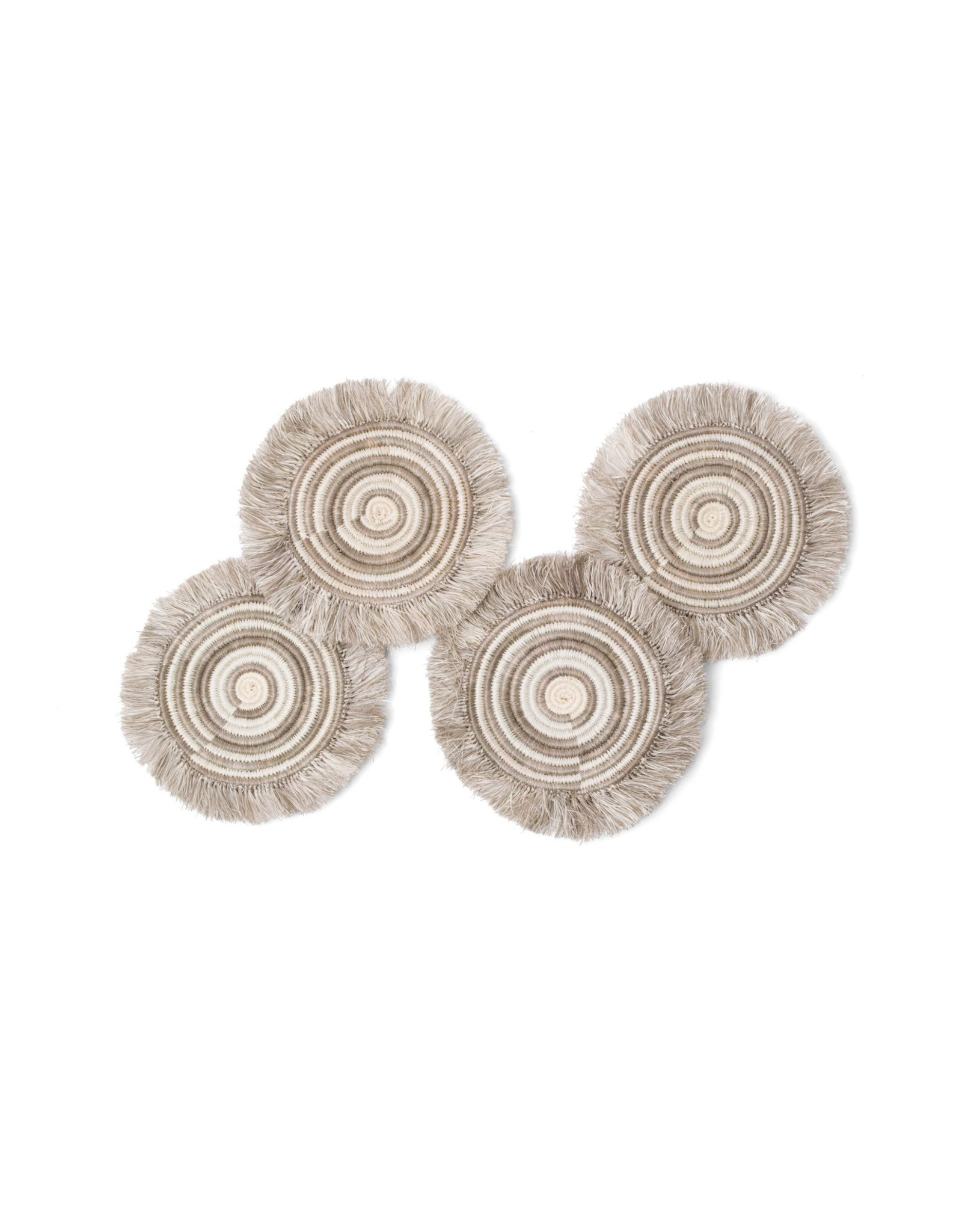 Taupe Frayed Coasters