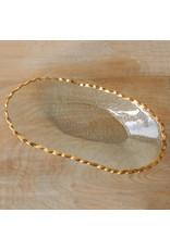 Fairbanks Oval Platter Clear/Gold