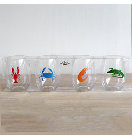 Seafood To-Go Wine Glasses (Set of 4)