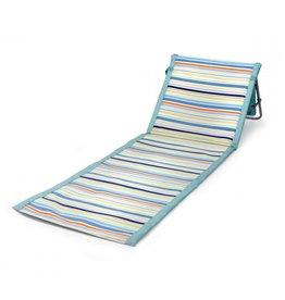 Oak + Arrow Interiors Beachcomber Chair - Sky Blue with Multi Stripe Pattern