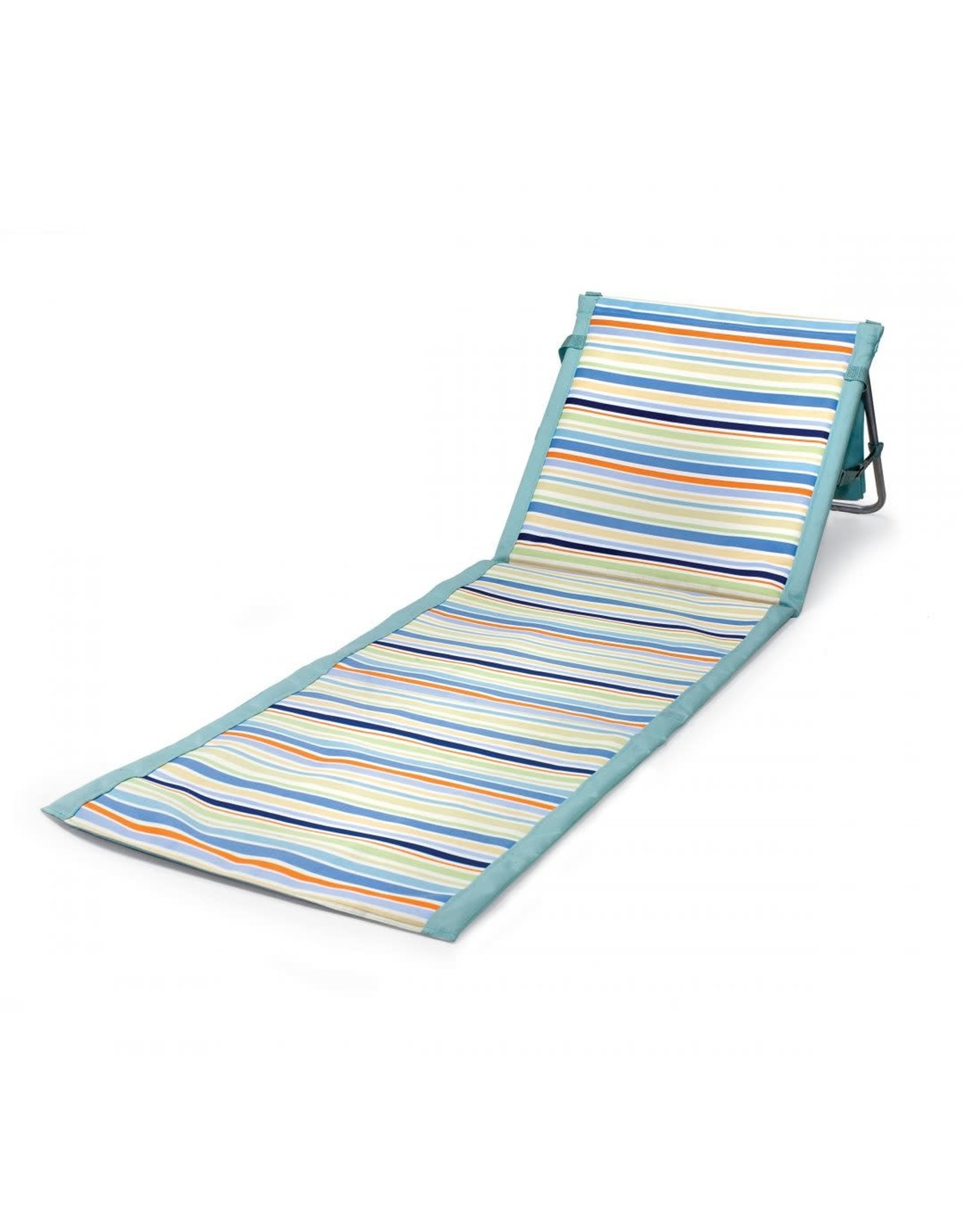 Oak + Arrow Interiors Beachcomber Chair - Sky Blue with Multi Stripe Pattern