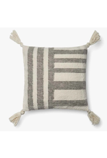 18x18 Grey Stripe Pillow