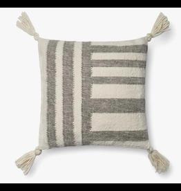 18x18 Grey Stripe Pillow