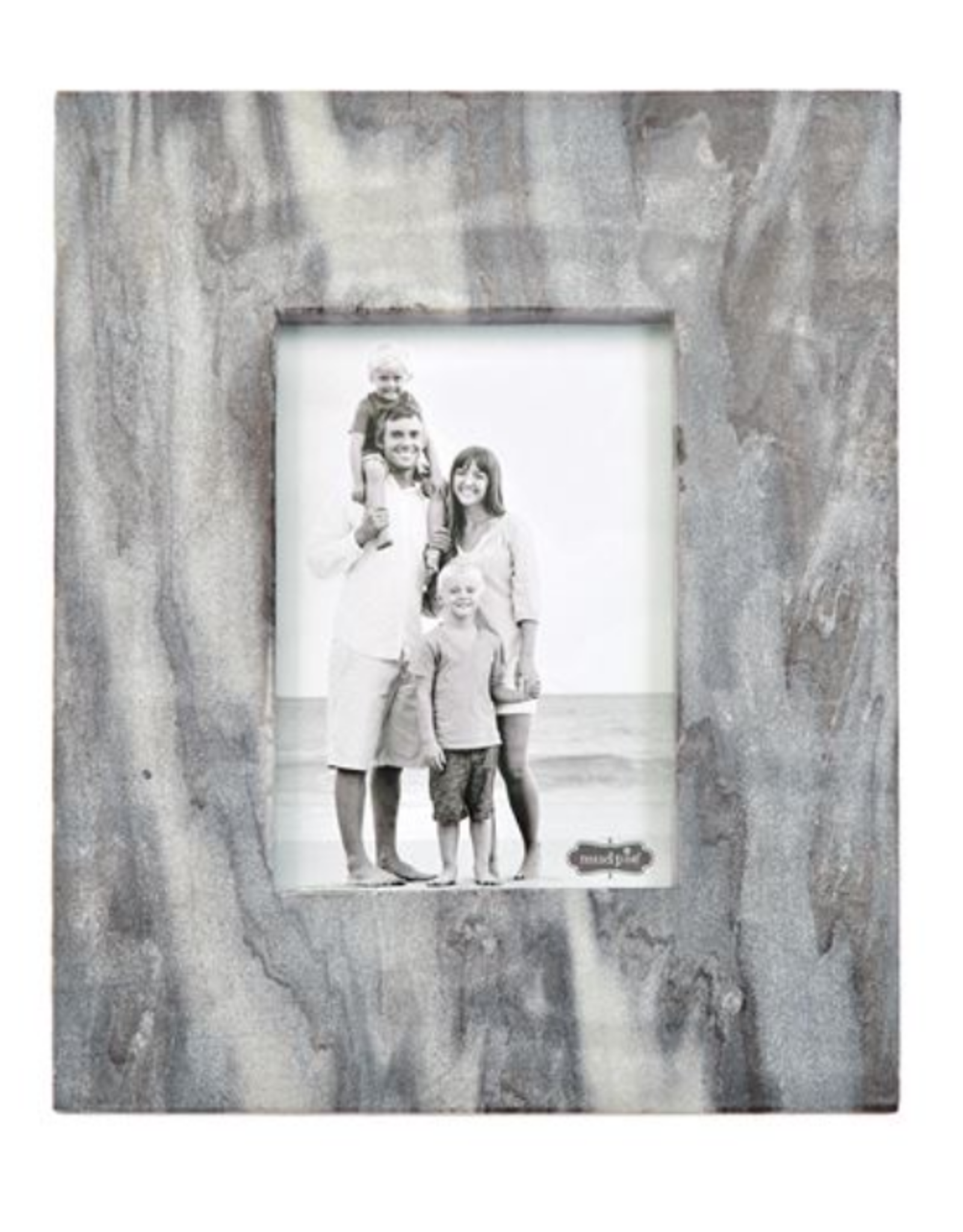 5x7 Large Gray Marble Raw Edge Frame