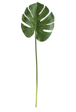 Large Faux Monstera Leaf Stem