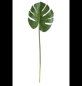 Large Faux Monstera Leaf Stem