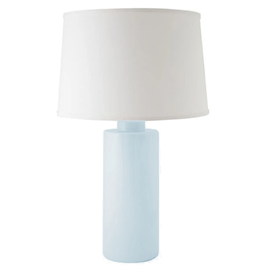 Hydrangea Light Blue Solid Column Lamp