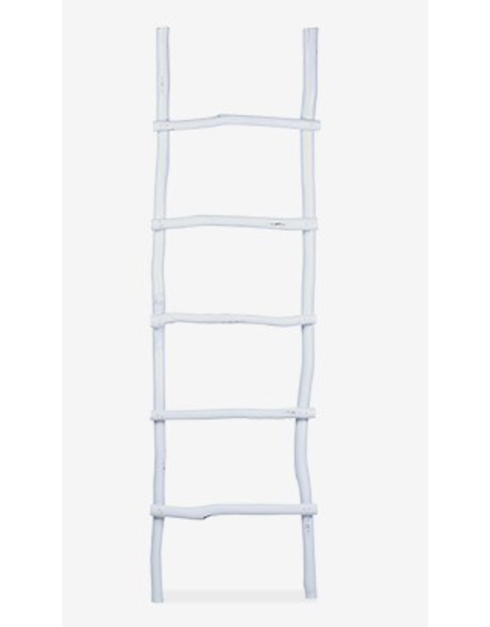 Organic Decorative Ladder - Antique White