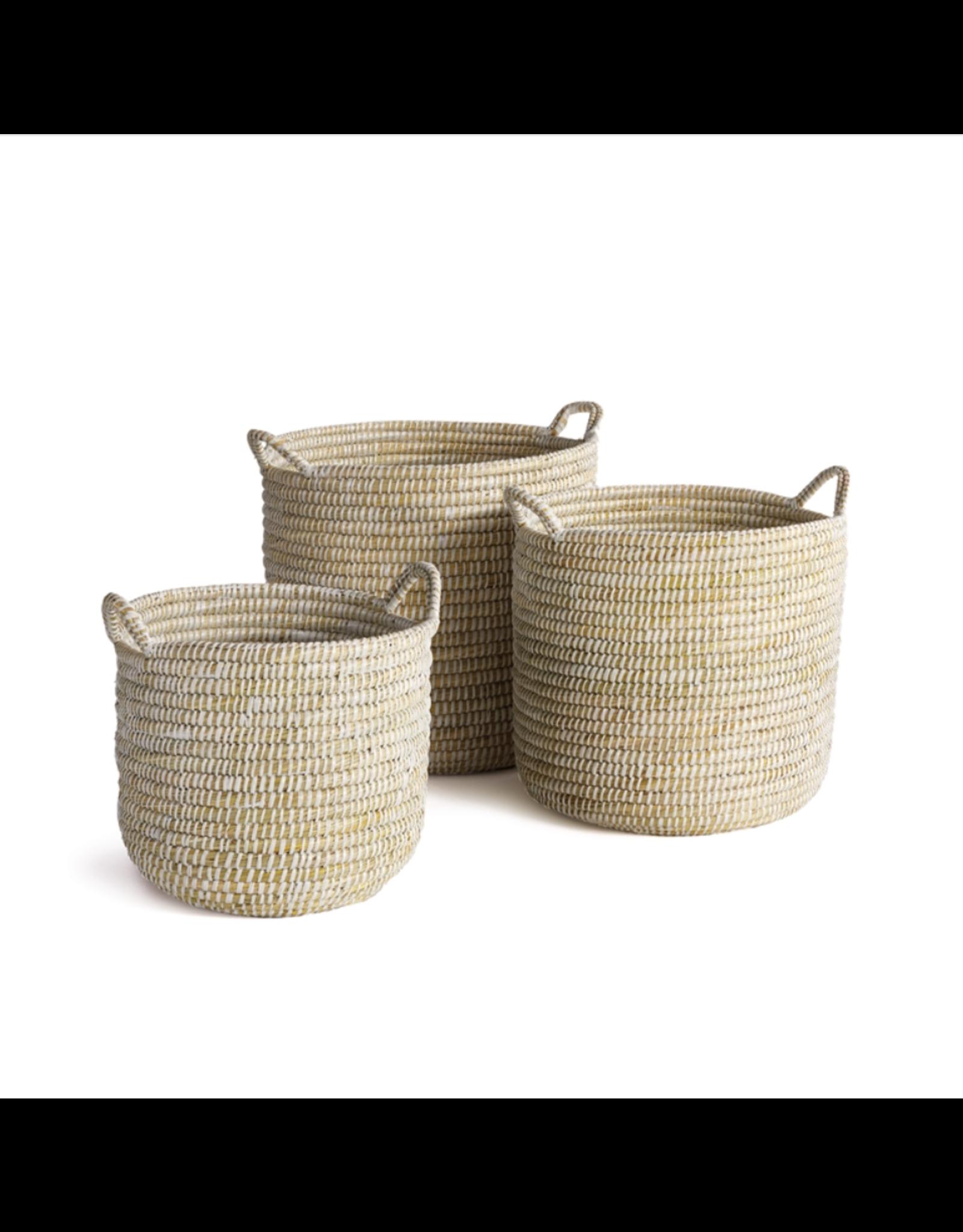 Oak + Arrow Interiors Rivergrass Basket with Handles - Small