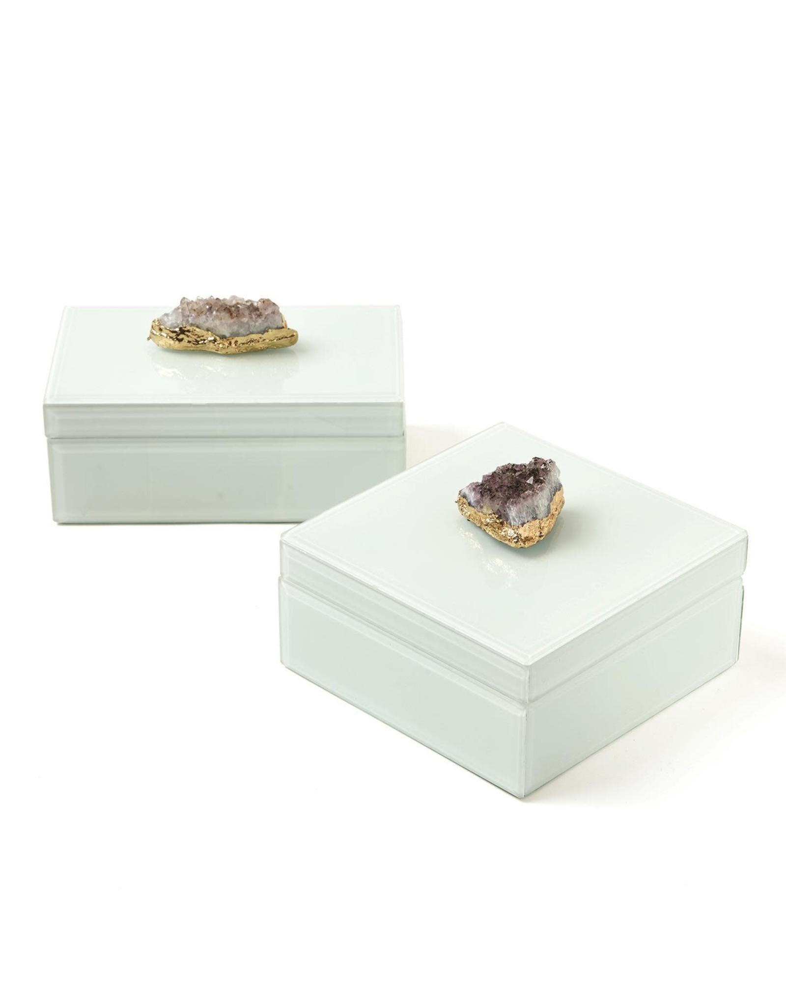 Oak + Arrow Interiors Amethyst Geode Box - Square