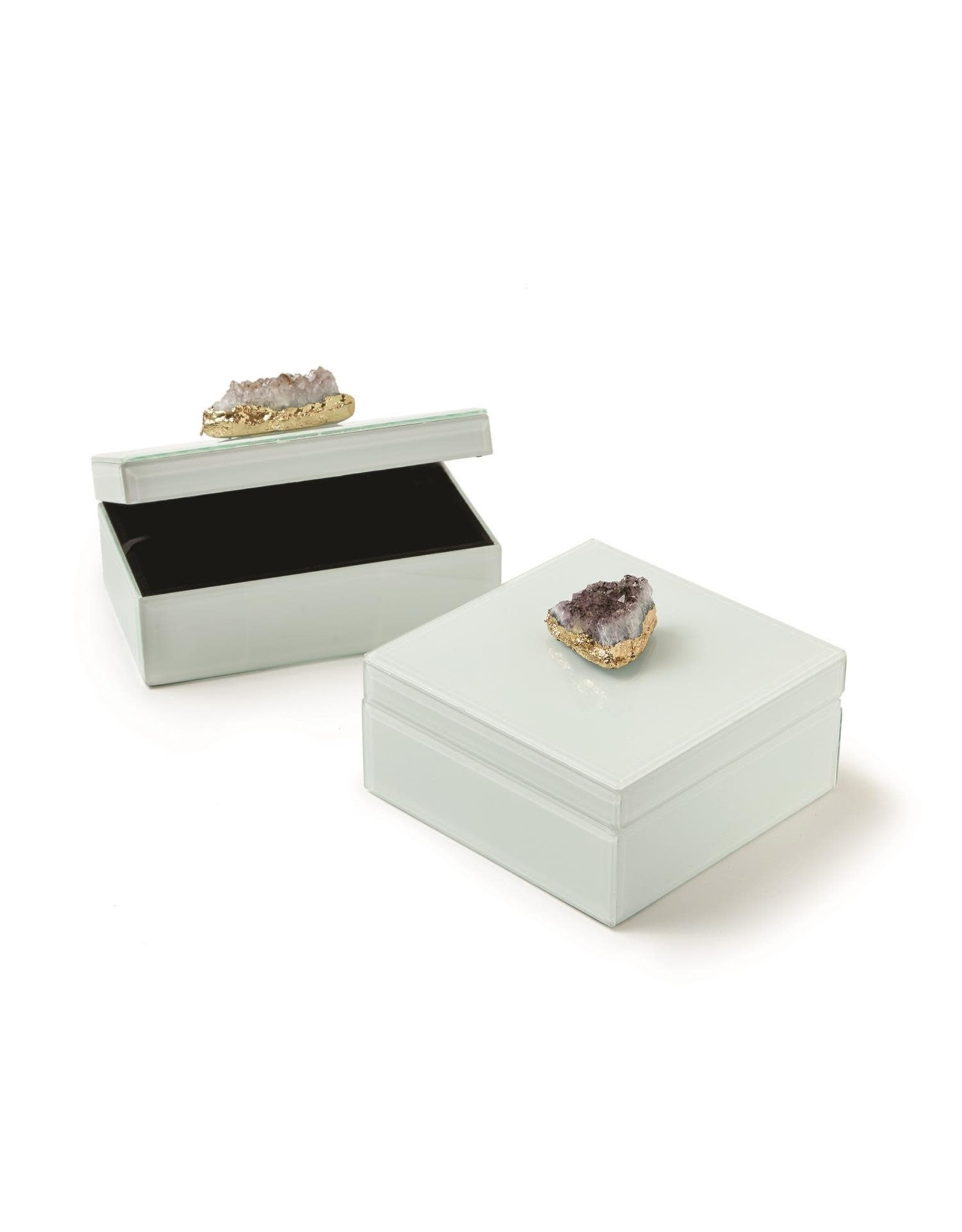 Oak + Arrow Interiors Amethyst Geode Box - Rectangle