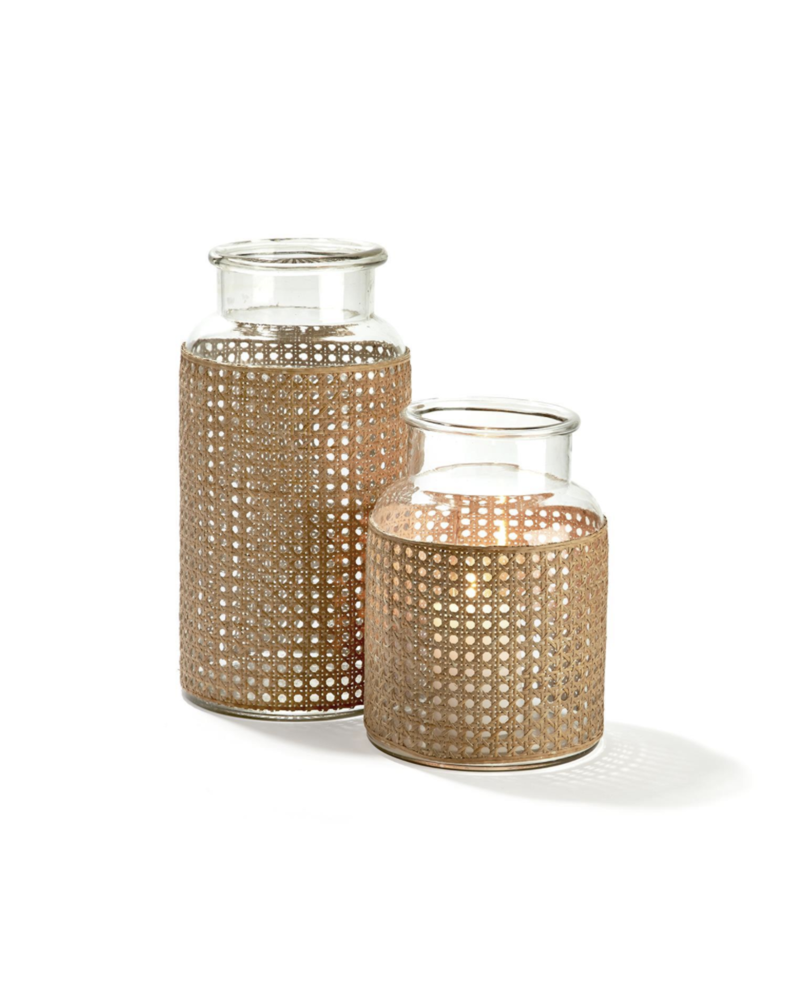 Oak + Arrow Interiors Cane Webbing Jar - Small