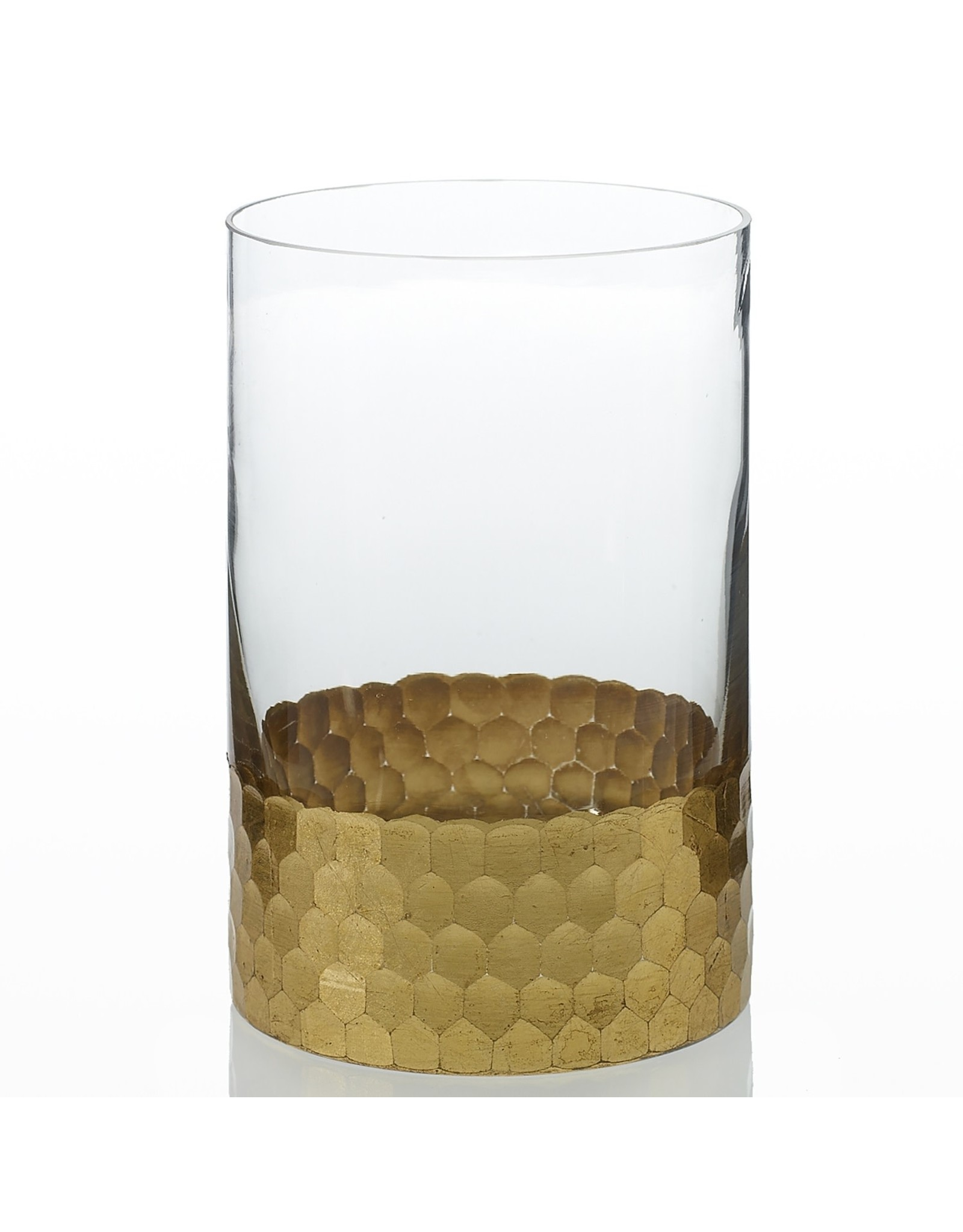 """Oak + Arrow Interiors Elsa Gold Vase 4"""" x 6"""""""